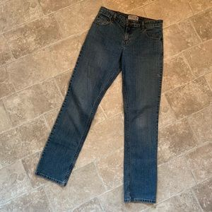 Levi's Strauss Mid Rise Straight Jeans.
